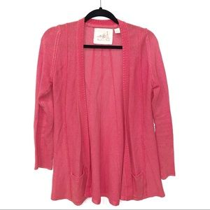 Angel of the North | Pink Open Front Cardigan
